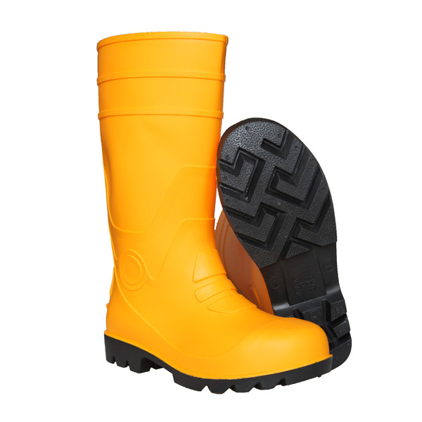 CE Certified Steel Toe Yellow PVC Safety Boots