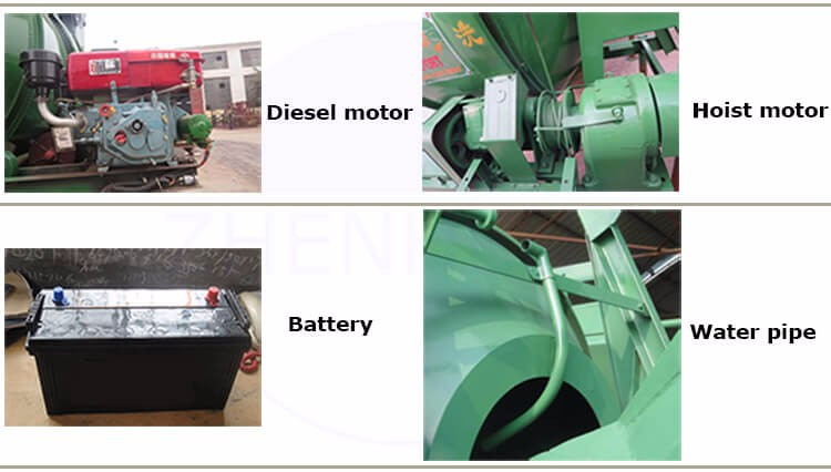 China Top Manufacturer Diesel Engine Cement Concrete Mixer Machine For Sale
