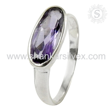 Grandiosity Artisan Silver Jewelry Purple Amethyst Ring 925 Silver Jewelry Offers Jaipur Silver Jewelry