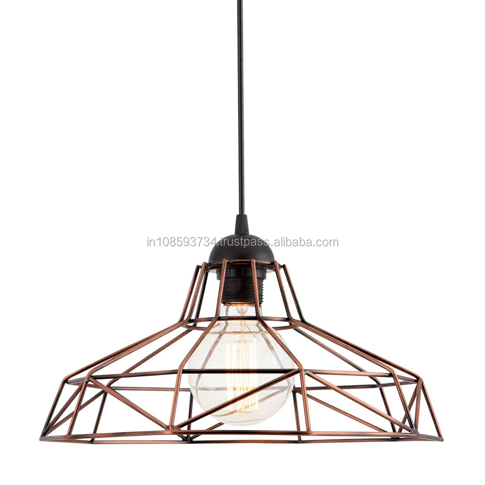 Cage Pendant Lamp For Home Lighting