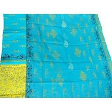 Yellow Blue Dobby Salwar Suit