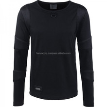 2016 Gothic black Men's long-sleeve 2015 shirt with net application shirt FC-4137