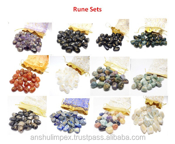 Wholesale Black Agate rune set, runes stones, wholesale runes.
