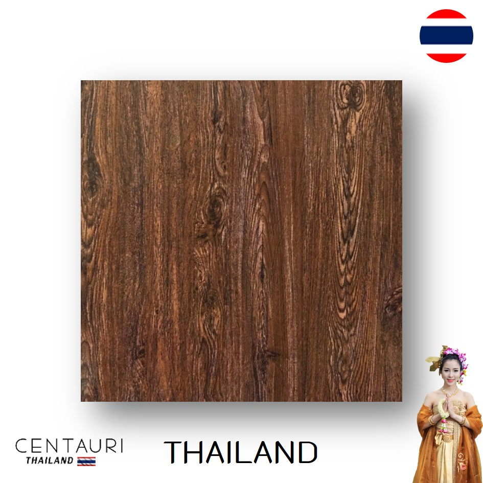 Nice Hickory Brown Wooden Pattern Polished Granito Floor Tile and Great Quality Interior Floor Tile from Thai Supplier