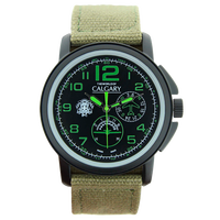 Calgary Watches Army 343 watches, green and black