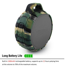 IPX7 waterproof level camouflage sport Bluetooth speaker Outdoor keychain waterproof bluetooth speakers,Support TF card playing
