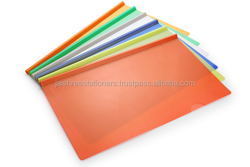 A4 Plastic / PP Clear/Color Report Cover Strip Files Folder