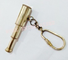 Nautical Brass Three Fold Telescope Key Chain/Key Ring