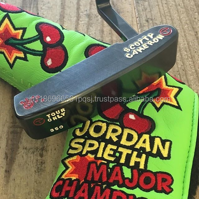 Unique Scotty Cameron putter with head cover and golf clubs Titleist