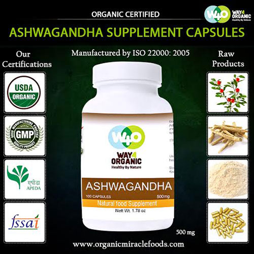 The Premium Quality Organic Ashwagandha Capsules At Your Door Step