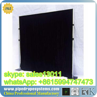 Best price pipe and drape curtain and vertical pole for free standing trade show booth stands