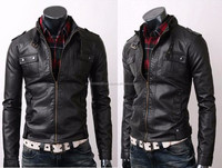 2015 Fashion Men Leather PU Genuine Cheap Faux Men Leather Jacket With High Quality For Men Leather Coat Sale Alibaba Pakistan