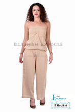 2816 RAYON CREPE MONO JUMPSUIT Vetement Smoke Dresses Hindu Ropa