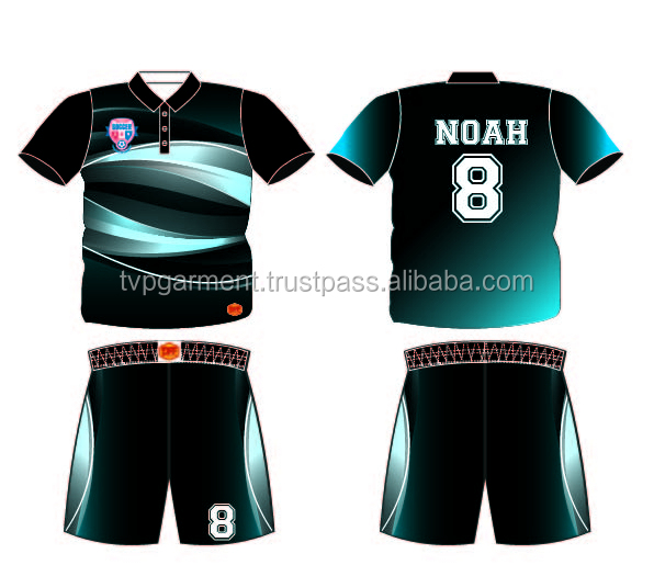 Custom design Sublimation Soccer Jersey and shorts TVPSC227