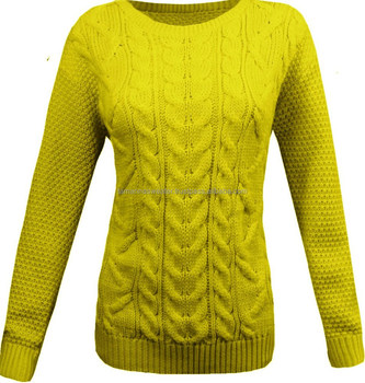 WINTER SWEATERS: NEW DESIGNED ACRYLIC ALLOVER CHUNKY CABLE PULLOVER JUMPER SWEATER
