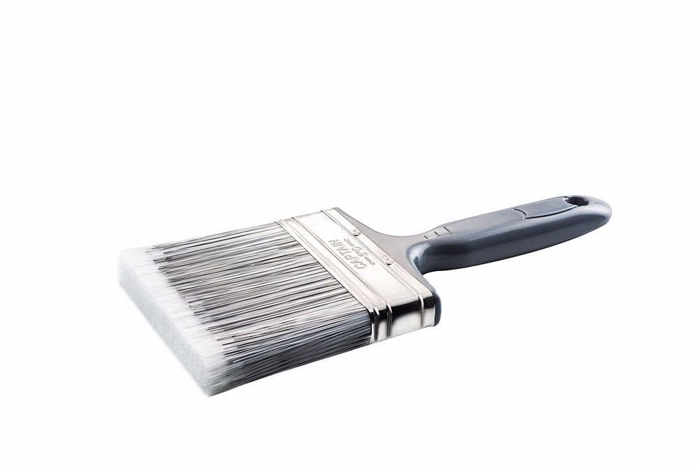"CAPTAIN PAINT BRUSH, B&W EUROPEAN SYNTHETIC FILAMENTS, ULTRA COMFORTABLE PLASTIC HANDLE, 1"" 2'' 3'' 4'' 5"" 6"""