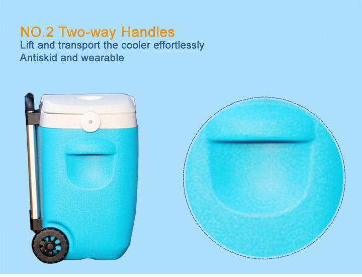 24L Trolley Plastic Beer Ice Cooler Box With Wheels