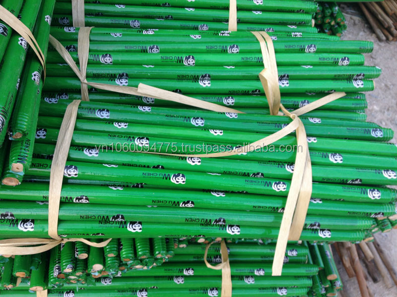 PVC coated wooden broom, Italian thread