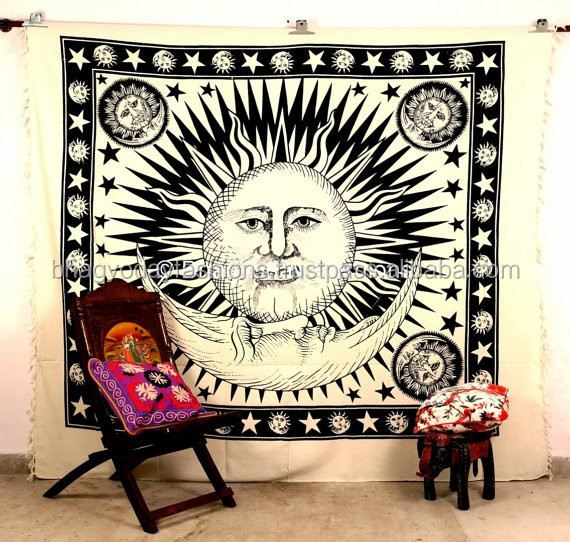 Indian Tapestry Hippie Wall Hanging Mandala Tapestry Throw Cotton Bed Cover Bohemian Bed Spread Ethnic Home Decor