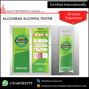 Disposable Breathalyzer The Tester Allows Consumers To Perform A Confidential Test