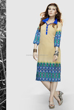 Pakistani Style Women's Long Digital Print Pakistani Kurti