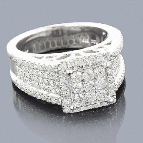 Certified Real 2.50CT Round Cut SI2/G Mens Diamond Ring at Wholesale Price