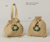natural jute drawstring gift bag with self jute handle