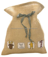 India Cheap Natural Jute Burlap Drawstring Bag Plain Jute Bags Wholesale
