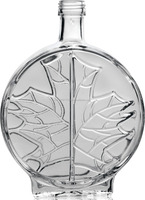 MODERN LEAF dedicated to maple syrup Glass bottle