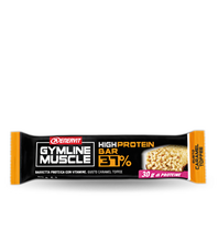 Enervit Gymline Muscle High Protein Bar 37% Box with 15 Snacks 80g Chocolate & Caramel