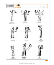Extracting forceps,dental instruments,05,surgical instruments, medical instruments