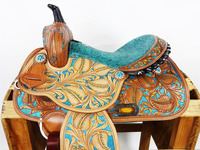 Horse western engraved saddles