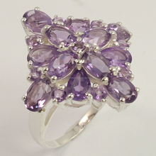 Wedding Ring Size All Natural AMETHYST Gemstone 925 Sterling Silver Jewelry
