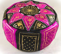Leather pouf model Fez