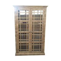 2 glass doors Cabinet (ALILONG)