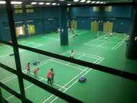 pre fabricated pre engineered steel badminton court buildings