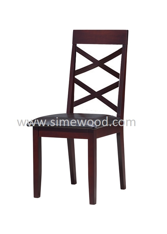 Wooden Dining Chair, Malaysia Rubber solid wood chair