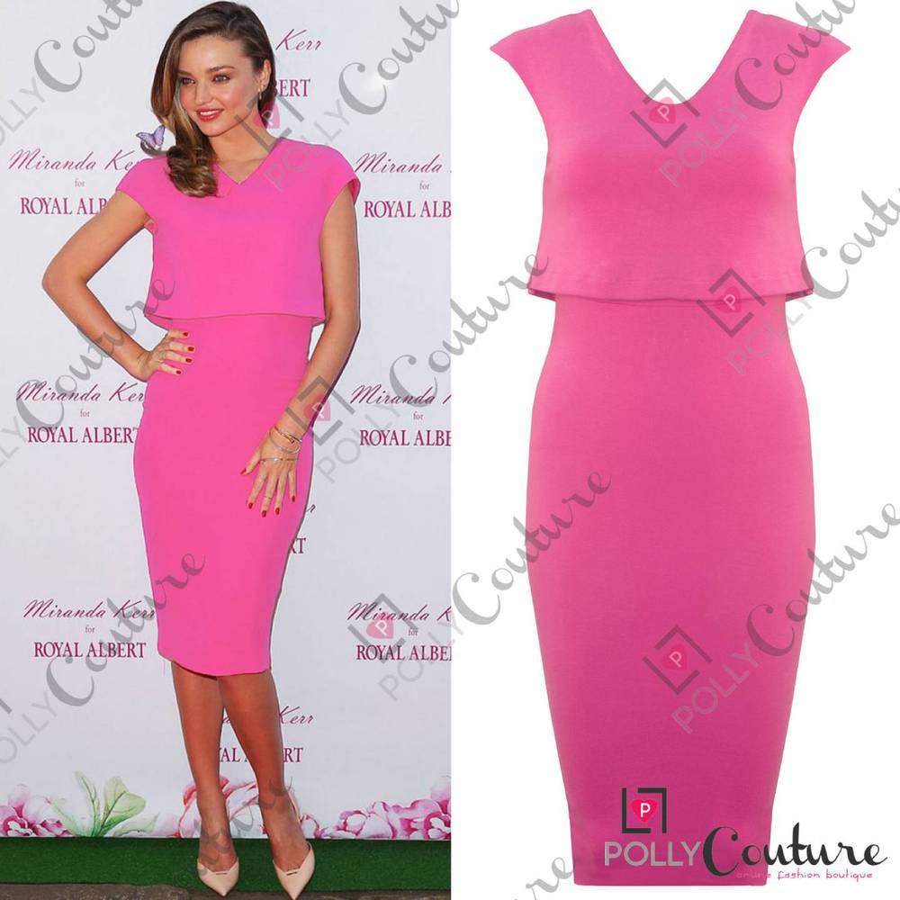 Womens Celeb Sexy Layer Formal Wedding Cocktail Evening Party Bodycon Midi Dress