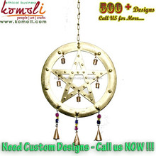 Iron metal outdoor hanging decorative stars indoor wind chimes Christmas decorations star