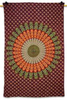 "Designer Red Wall Tapestry Mandala Table Runner Print Table Cloth Bed Spread Wall Decor Twin Size 84"" X 56"" GiftTP466Z"