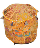 Designer Patch Work Traditional Indian Ottomans, Footstools & Poufs Online Shop