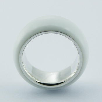 Sterling Silver Hydro Quartz Ring White Band Hallmarked 925 Lining
