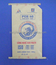 3 layers virgin kraft paper cement bag with side gusset