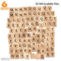 wooden scrabble tiles board game