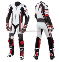 Active Men Racing LeatherSuits Motorcycle/White& Black Suit Motorbike Leather Suits/Custom Made Leather Motorcycle Suits