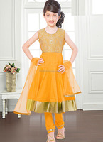 Kids anarkali style churidar suit\girls churidar suits\ girls frock suits
