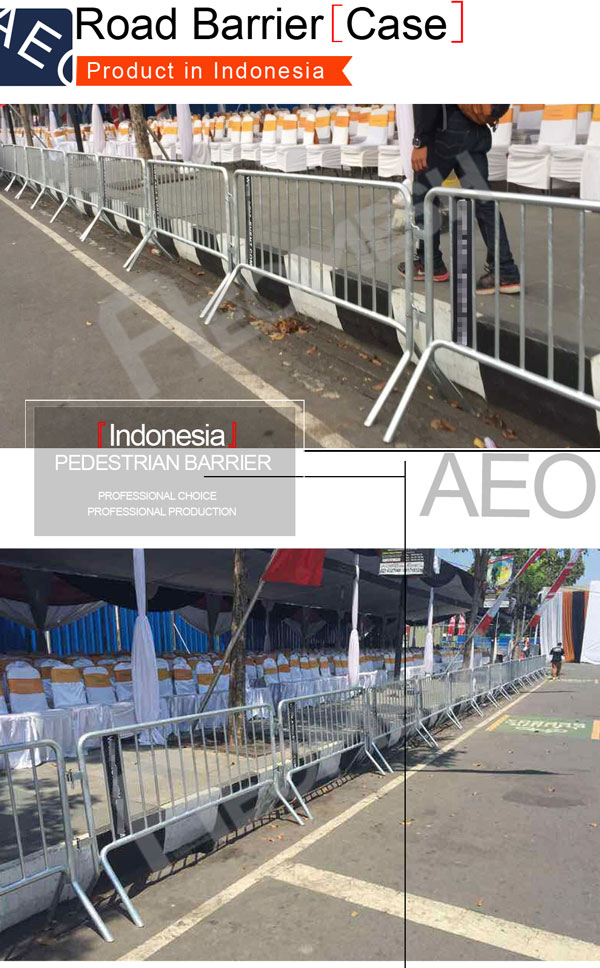 Project in Indonesia road barrier