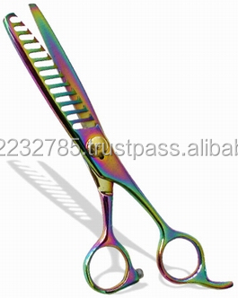 High quality Professional hair Thinning shears ,made of Japanese stainless steel titanium rainbow