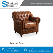Most Elegant Living Room Furniture, Chesterfield Arm Chair Leather Sofa
