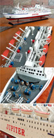JUPITER PAINTED OCEAN LINERS Wooden model cruise ship